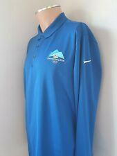 Mens Nike Golf Dri-Fit Long Sleeve Golf Polo Shirt Large L Top