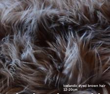 Sheepskin rustic stool tabouret hocker sheepskin Long Wool 12-20cm 25 color