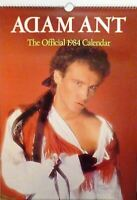 ADAM ANT OFFICIAL 1984 calendar, ADAM AND THE ANTS
