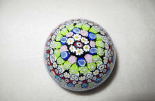 ANTICA MURRINA VENEZIANA  MILLEFIORI PAPERWEIGHT -  LABEL