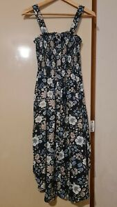 Lily Loves strappy shirred floral strapoy dress AU 8-10