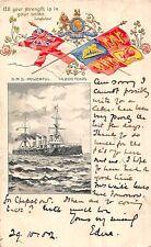 CARTOLINA NAVI HMS POTENTE TUCK