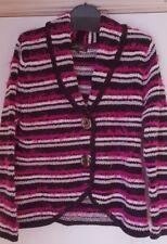 Brand New: Cardigan Black/Pink/ Cerise/Grey Stripe  Size M/L (14/16)