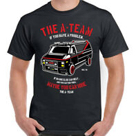 The A-Team Van Mens Funny 80's TV Programme T-Shirt Show Mr-T