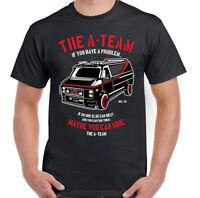 THE A-TEAM T-SHIRT Mens Van Funny 80's TV Program Show Mr-T Unisex Top