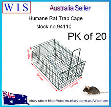 20 x Humane Rat Trap Cage Live Animal Pest Rodent Mice Mouse Control Bait Catch