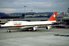 B-747-300 SwissAir Boeing 747 Airplane Wood Model Big