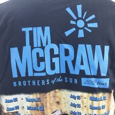 Mens L Tim McGraw Brothers of the Sun 2012 Tour T Shirt Excellent Condition