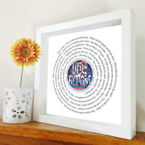 Elbow - Magnificent (She Says) - framed song lyrics - any song - Little Fictions