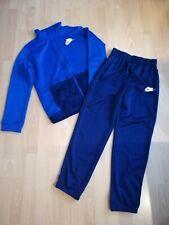 Nike 2 teiliger Sportanzug Jogginganzug Gr. 158 - 170 blau - marine