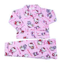 Kids Girls Hello Kitty Winter Nightie Pajama PJ Pyjama Set Sz Long Sleeve Cotton