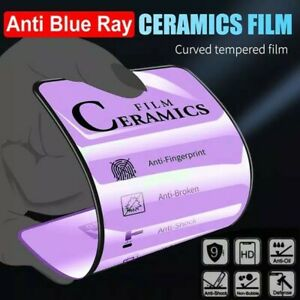 Anti blue light clear ceramic soft film screen protector iPhone X 11 12 Pro Max