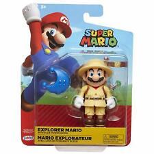 Super Mario 4 Inch Figure Explorer Mario with Blue Power Moon *BRAND NEW*