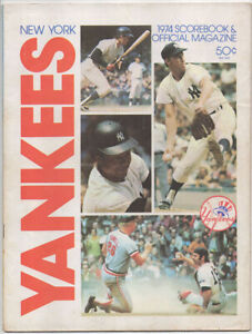 Vintage 1974 New York Yankees vs Minnesota Twins Program, Munson Carew Killebrew
