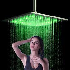 40 cm LED Nickel Regendusche Duschkopf Brausekopf Rainshower Armatur Kopfbrause