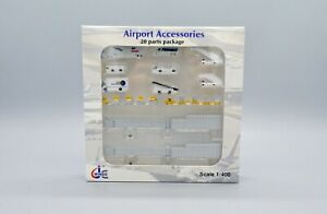 JC Wings GSE set Scale 1:400 Airport Accessories 20 Parts Package      JCGSESETA