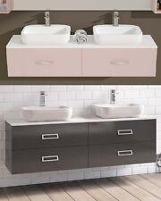 Mobile da Arredo per Bagno doppio lavabo con 2 o 4 cassetti 30 colori 160x40|LOP