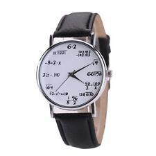 Unique Women Mens Math Operation Analog Stainless Steel Watch Wrist Watches