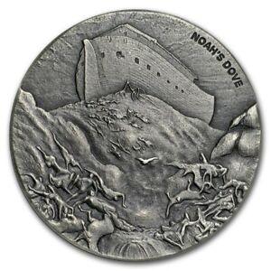 Noah's Dove 2 oz .999 silver coin Biblical series, Bible Story 2018 Noah's Ark