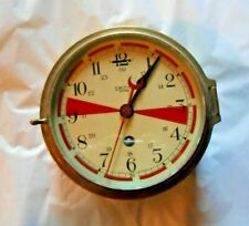 Smiths Astral Great Britain Maritime Ships Clock Working Brass Fancy Face Red