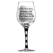 Davvero una grande notizia a27225 COMPLEANNO BAMBINA FESTA bicchiere di vino