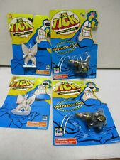 4 1994 Bandai The Tick Figures with Arthur and Cannon Human Bullet