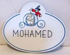 DISNEY WORLD 25TH ANNIVERSARY NAME BADGE TAG CAST MEMBER MOHAMED MICKEY MOUSE
