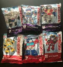 2019 Wendy's Kids Meal Toys Hasbro TRANSFORMERS COMPLETE SET of 6 + PROMO BAG!!