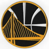 """NBA Golden State Warriors Huge Size 5"""" Iron on Patches Emblem Patch Black & Gold"""