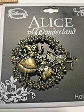 Hair Barrette Clip Alice in Wonderland Rabbit Disney Neon Tuesday Bronze Color