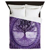 CafePress Tree Of Life In Purple Queen Duvet (1708267766)