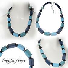 Prism Blocks Medium Necklace, Shades of Blue from Timeless Season