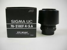 Sigma UC 70-210 f4-5.6 MF KPR Mount lens Pentax
