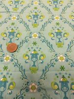 100% Cotton Quilting craft Fabric Benartex Under The Big Top Circus Aqua blue