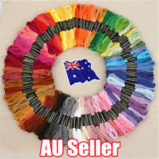 50 Color Egyptian Cross Stitch Cotton Sewing Skeins Embroidery Thread Floss EA