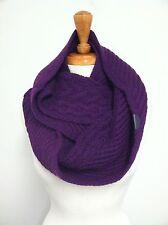 COACH 84061 Women's $248 Violet Wool Cashmere Aran Legacy Knit Infinity Scarf