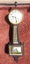 Antique Mahogany Waterbury Willard No. 5, 8 Day Time + Strike Banjo Clock, C1910