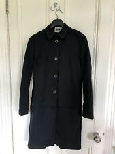 Acne Studios Black Single Breasted Mac Coat Size 8
