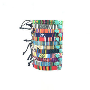 Elephant Bead Bracelets Jewelry For Women Men Adjustable Hippie Friendship Thin