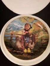 "Danbury Mint M J Hummel Gentle Friends Feeding Time 8"" Collector Plate"