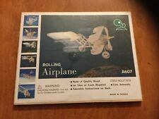Wood Rolling Airplane Model Kit