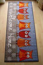 Waschbare Fußmatte Welcome Schmutzfangmatte SALONLOEWE Blau 60 x 180 cm