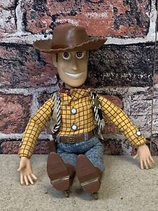 Toy Story talking Woody thinkway toys Vintage RARE Original Toy Story1  WITH HAT