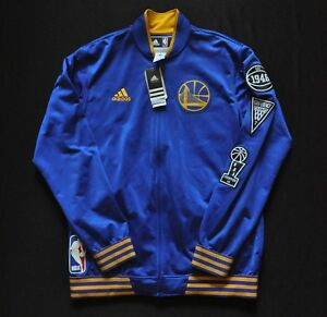 GOLDEN STATE WARRIORS Adidas Warmup NBA Jacket On-Court 15-16 Blue NWT L