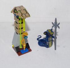 LEGO Ninjago Skales Minifigure Blue Ninja Snake 9446 w/ Altar Staff Weapon Alter