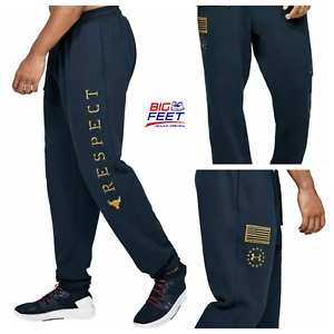 Size Large Under Armour UA Freedom x Project Rock Navy Blue Sweatpants Joggers