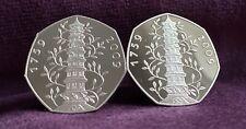 2009 Rare Kew Garden 50p CuffLinks Bunc Bu Perfect Coin Collectors With Pouch