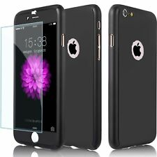 Hybrid 360° Shockproof Case Tempered Glass Cover For Apple iPhone