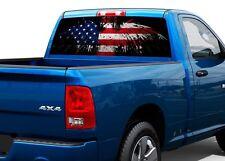 Patriotic American Flag Eagle Rear Window Decal Sticker Pick-up Truck SUV Car