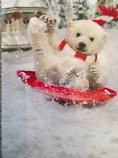 Avanti Greeting Card Merry Christmas Polar Bear Holidays